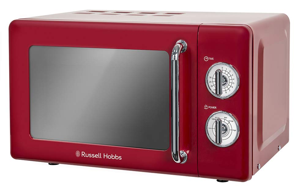 Russell Hobbs microondas simple de 17 litros, retro, RHRETMM705R ...