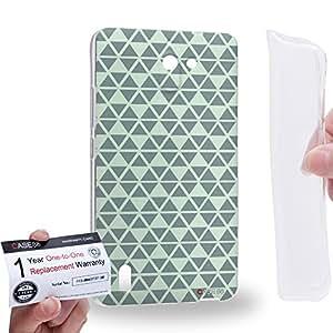 Case88 [Huawei Ascend G628] Gel TPU Carcasa/Funda & Tarjeta de garantía - Art Fashion Grey Geometric Aztec Camo Art2134