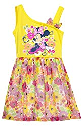 (692049MIT) Disney Little Girls Minnie Mouse Casual Play Dress in Pink Size: 2T