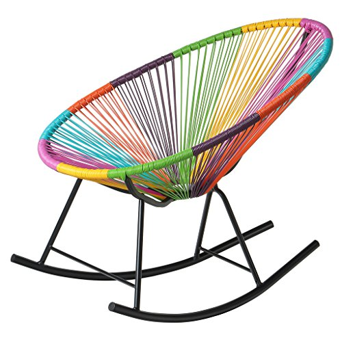 PoliVaz PV-MR-MULTI Mayan Hammock Acapulco Rocking Chair, Multicolor