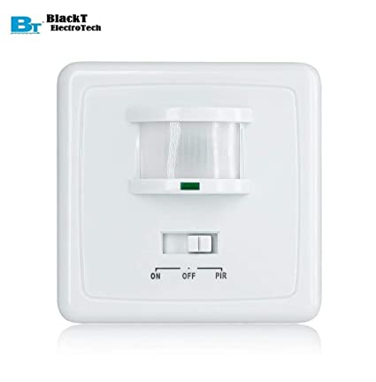 blackt electrotech pir wall mounted hidden infrared motion sensor switch  with on/off button: amazon in: home improvement