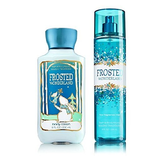 Frosted Wonderland Bath & Body Works Holiday Traditions 2014 Body Lotion & Fragrance Mist Full Size