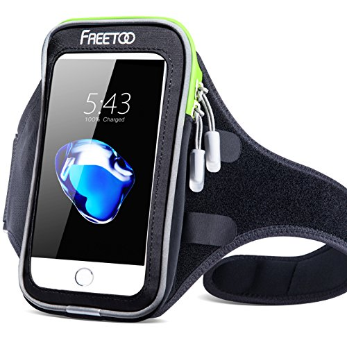 [해외]스포츠 암밴드 FREETOO 지능형 터치 스크린 물 땀 저항력이 완장 완장 핸드폰 케이스 키 홀더 3 헤드폰 포트 케이블 사물함 실행/Sport Armband FREETOO Intelligent Touchscreen Water Sweat Resistant Armband Cell Phone Bag Case with Key Holde...