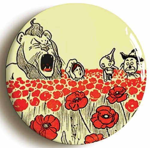 Enchanted Poppies Wonderful Wizard Of Oz Pin Button (Size 1inch (Enchanted Wizard)