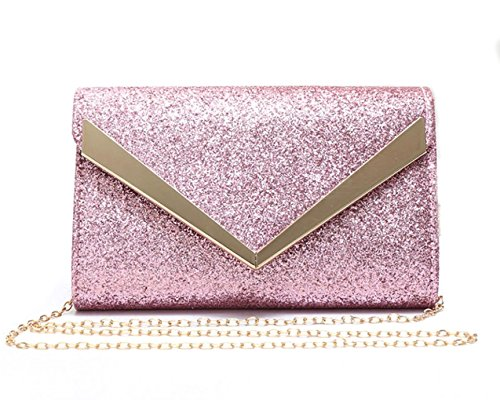Women's Bag Prom Diamante 1704 Pink Flap Clutch Wedding Women LeahWard New Party Evening For UwdUq4Y