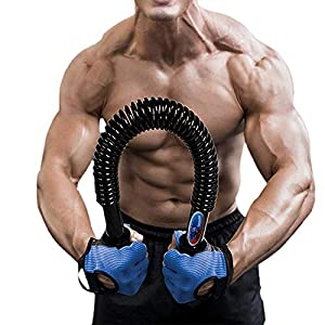 Portzon Python Power Twister,Spring steel Power Twister, Arm Muscle, Chest, Shoulder Spring Exercise Fitness , Up to 132 lbs/60kg,1 Pack
