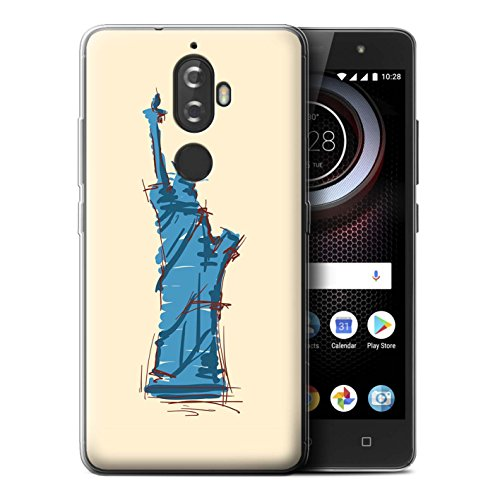 STUFF4 Gel TPU Phone Case / Cover for Lenovo K8 Plus / Statue of Liberty Design / Landmarks - Style Place Of Man Liberty