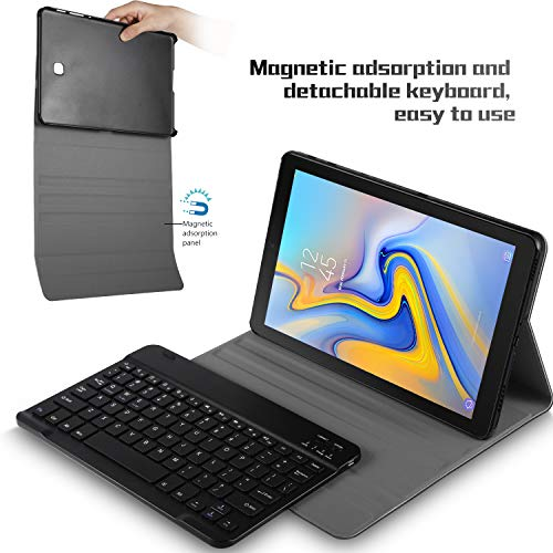 Luibor Keyboard Case for Samsung Galaxy Tab S5e Front Prop Stand Case with Removable Wireless Keyboard for Samsung Galaxy Tab S5e SM-T720 (Wi-Fi) SM-T725 (LTE) 10.5 inches 2019 Release (Black)