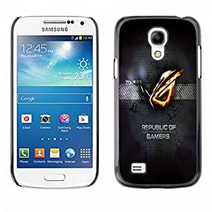 TopCaseStore / la caja del caucho duro de la cubierta de protección de la piel - Republic Of Gamers - Samsung Galaxy S4 Mini i9190 MINI VERSION!