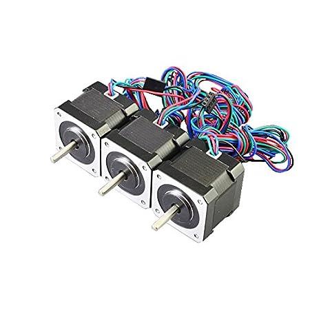 3PCS 45Ncm Nema 17 Stepper Motor 2A 4-wire 1m Cable for DIY 3D ...