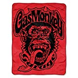 Gas Monkey Best Deals - Gas Monkey Garage Red Monkey Logo Micro Raschel Throw by The Northwest Company, 46 by 60