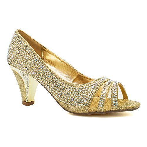 London Peep Gold Footwear toe Donna xZYqwrFaZ