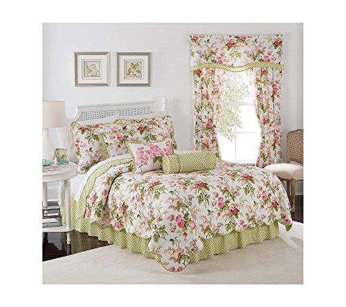 - WAVERLY Emma's Garden Reversible Quilt Set Full/Queen Quilt Set