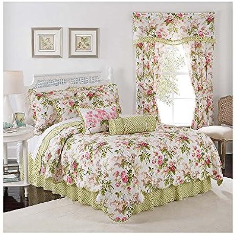 Waverly Emma S Garden Reversible Quilt Set Twin Quilt Set