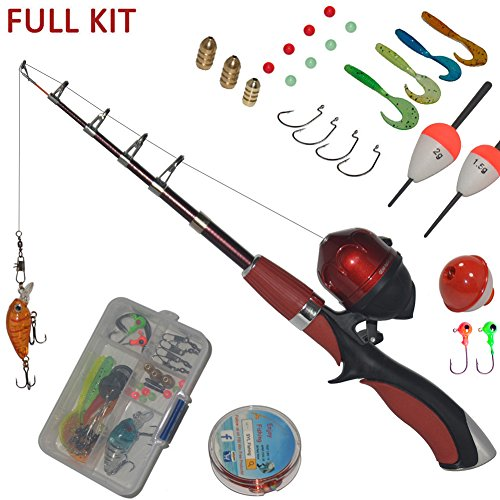 Galleon portable mini fishing rod and reel combo kids for Kids fishing gear