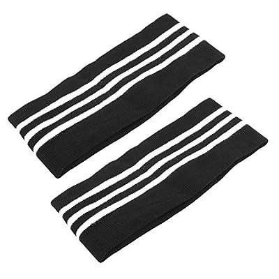 DealMux Gym Sports Tennis Yoga Exercice 2pcs élastique protecteur bande de sueur avec bande de fixation