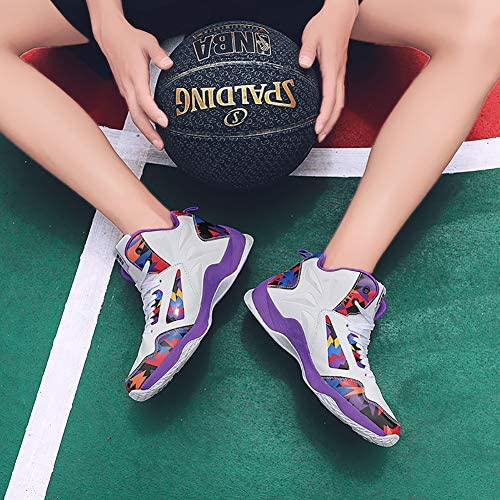 バスケットシューズ ジュニア メンズ スニーカー ハイカット おしゃれ スポーツシューズ ランニングシューズ ウォーキングシューズ 通気 クッション性 運動靴 通学靴