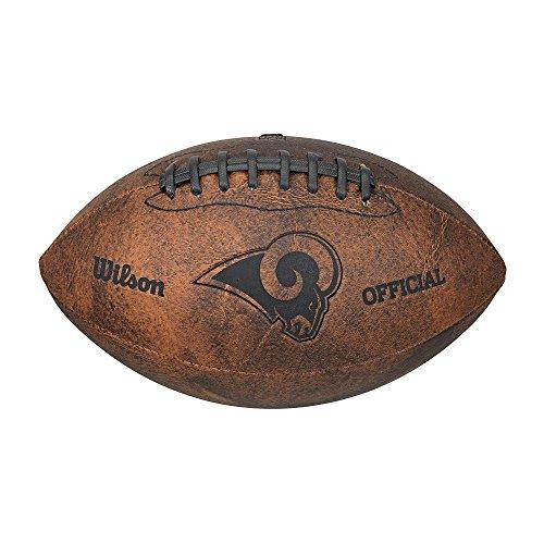 Throwback Mini Batting Helmet - Wilson NFL Los Angeles Rams Throwback 9 inch Composite Leather Football