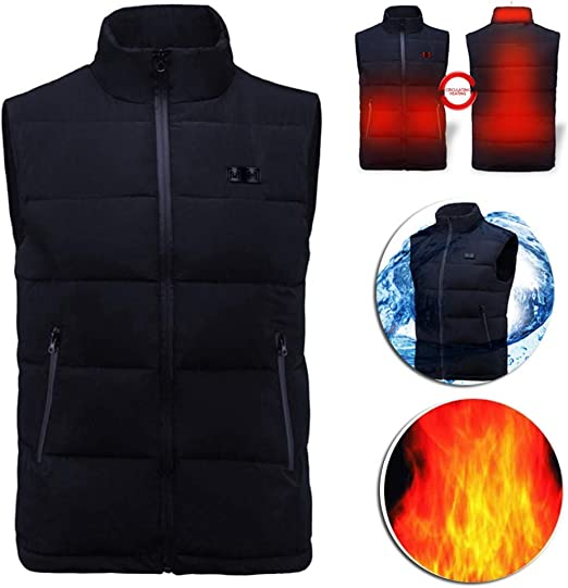 USB Men Women Electric Heating Vest Jacket Winter Warm Heated Pad Coat Clothes