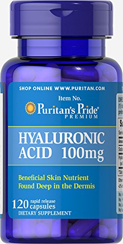 Puritan's Pride Hyaluronic Acid 100 mg-120 Capsules