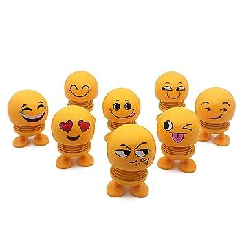 QTDH Emoji Shaking Head Dolls - Funny Smiley Face Springs ...