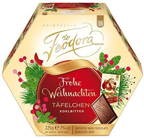 Feodora Frohe Weihnachten Täfelchen Edelbitter 225g