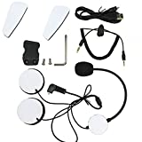 #6: Yideng Motorcycle Intercom Accessories Earphone Microphone Audio Cable Charger Cable Mounting Clip Velcro Kits