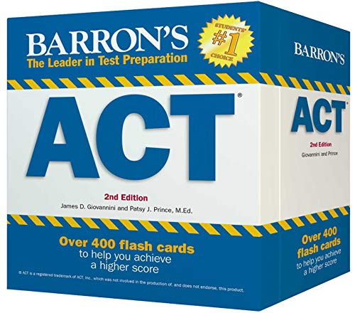 Barron's ACT Flash Cards: 410 Flash Cards