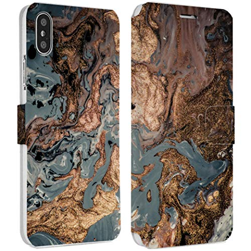 - Wonder Wild Golden Stone IPhone Wallet Case X/Xs Xs Max Xr 7/8 Plus 6/6s Plus Card Holder Accessories Smart Flip Hard Design Protection Cover Abstraction Mixing Marble Granite Iridescence Rock Art