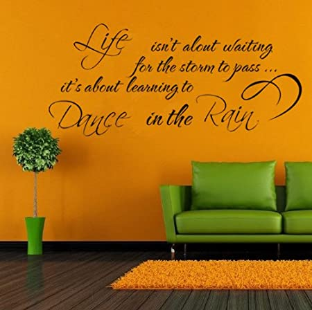 138x303 English Poetry Letters Quotes Words Wall Stickers Wall