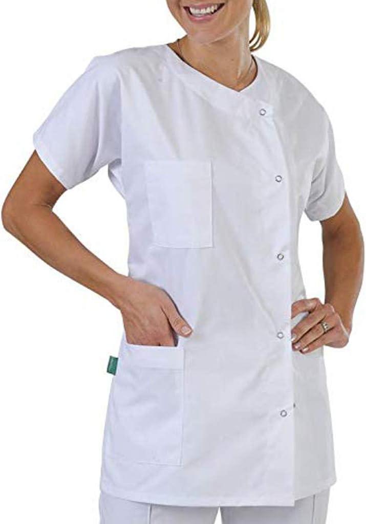 ღLILICATღ Unisex Bata de Médico Laboratorio Enfermera Sanitaria ...
