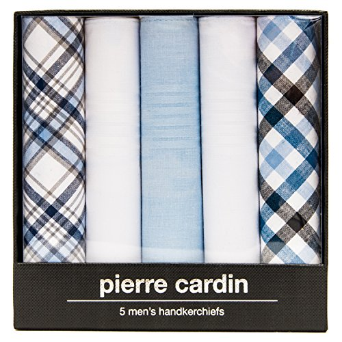 Pierre+Cardin+Handkerchief+in+Black+Lined+Gift+Box+%285+Pack+Assorted+Patterns+2%2C+16%22+x+16%22%29