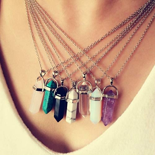 Naomi [Level Zero] Multi Color Quartz Necklaces Pendant Necklace Chain Crystal Necklace Women Jewelry Accessories Malachite one - Necklace Chain Malachite