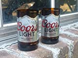Set of 2 Coors Light upcycled glasses
