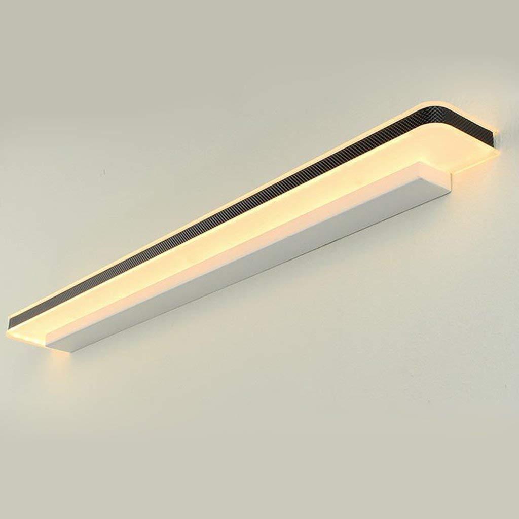 Warm Light-12w 50cm Spiegel Lampen LED-Spiegel vorne Licht Badezimmer Badezimmer Toiletten Schminktisch moderne Wasserdichte Nebel Kostenlos stanzen Wandleuchte Badezimmer leuchten (Farbe  warmes Licht-12 W 50 cm)