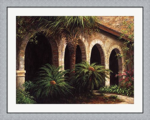Sago Arches by Art Fronckowiak Framed Art Print Wall Picture, Flat Silver Frame, 40 x 32 inches (Arches Sago)