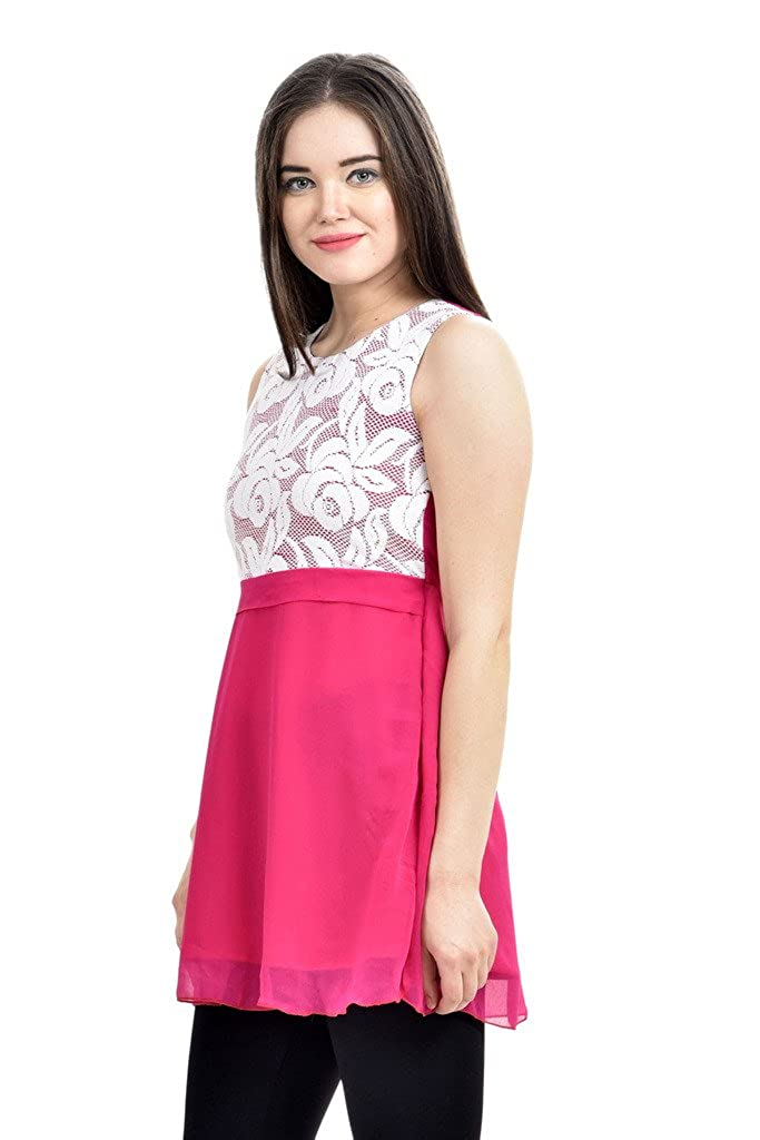 2f952d5f71aceb Femninora Awesome Pink Color Tunic: Amazon.in: Clothing & Accessories