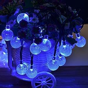 kasit Solar LED en forma de burbuja String luz, 30LED con 8modos intermitente para jardín, patio, al aire libre, hogar, decoración navideña