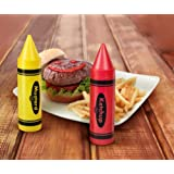 Fred and Friends Crayums Ketchup Mustard Condiment Servers