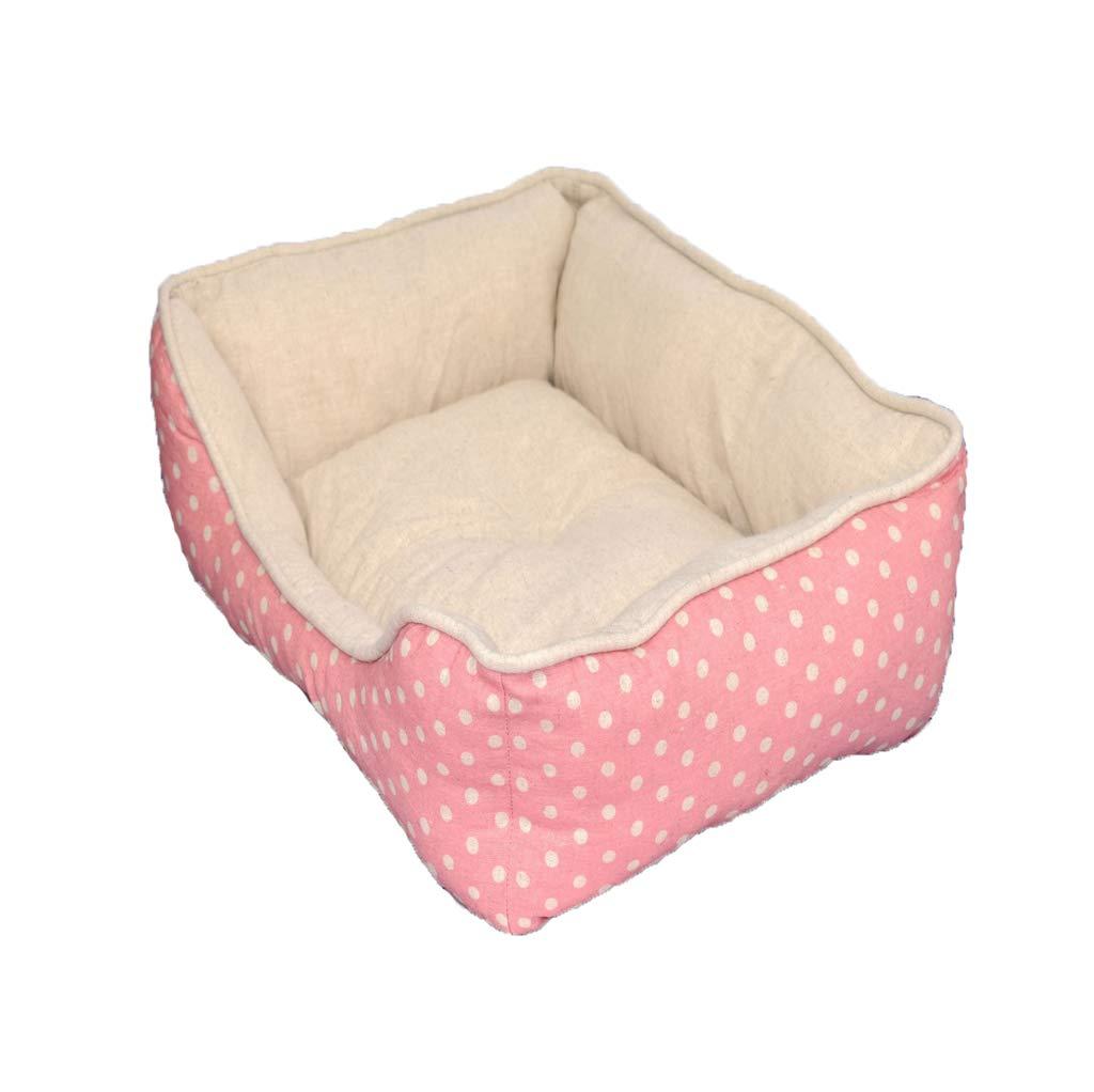 M Dog Bed Pet Nest, Removable Cat Litter, Four Seasons Universal Soft and Comfortable Dog Pet Warm Basket Mattress (Size   M)