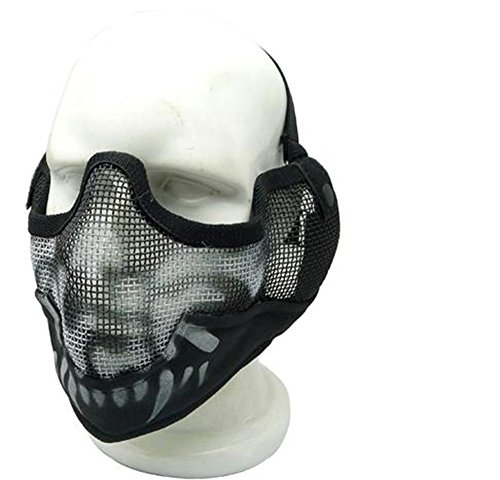 Myheartgoon Airsoft Strike Steel Half Mask War Game Half Fac