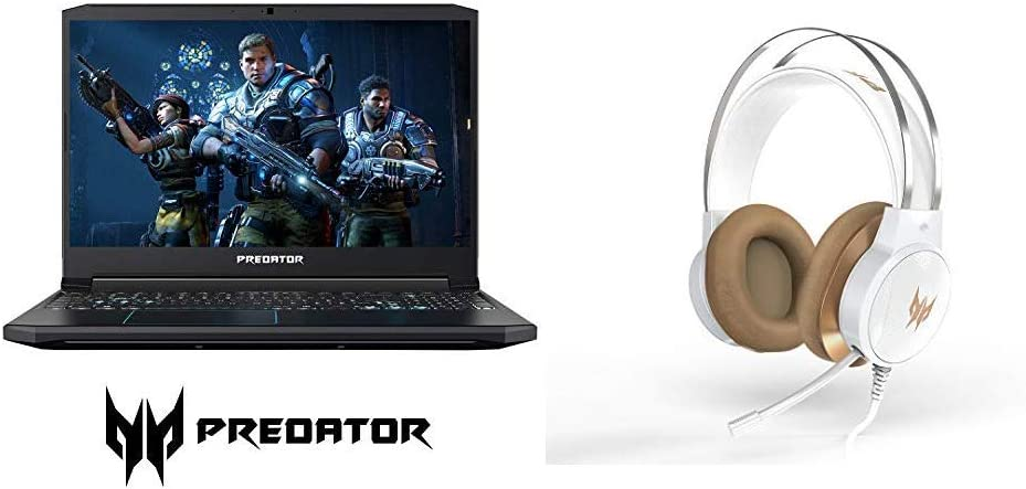 Acer Predator Helios 300 Gaming Laptop with Acer Predator Galea 300 White Gaming Headset