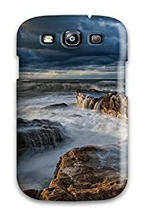 Lucas B Schmidt's Shop Best Top Quality Case Cover For Galaxy S3 Case With Nice Water Waves On Rocks Appearance