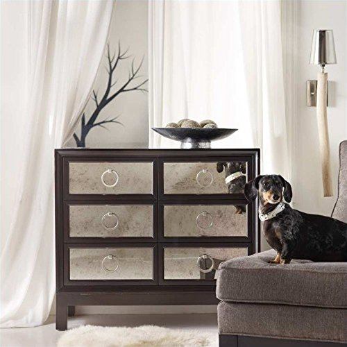 Hooker Furniture Melange 6 Drawer Mirrored Front Accent Chest in Dark Merlot by Hooker Furniture
