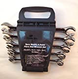 5pcs Metric 6 Point Flare Nut Wrench Set w/Wrench