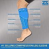 Zensah  Compression Leg Sleeves, Neon