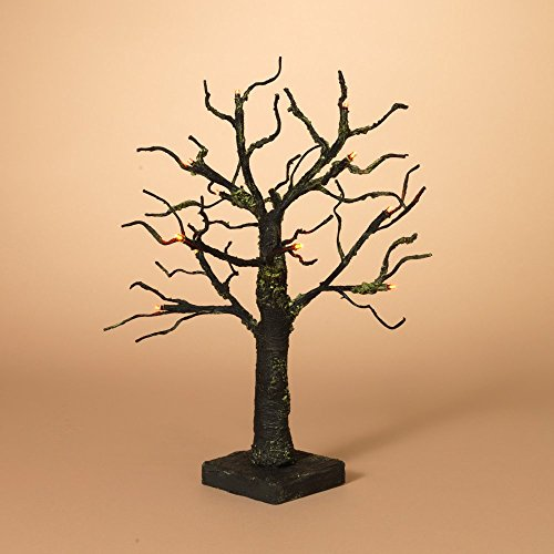 18 in. Battery Operated Spooky Halloween Tabletop Tree with Orange LED Lights (Halloween Tabletop)