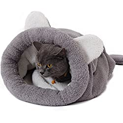 PAWZ Road Cat Sleeping Bag Self-Warming Kitty Sack Grey