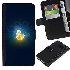 Paccase / Billetera de Cuero Caso del tirón Titular de la tarjeta Carcasa Funda para - Aries Zodiac Sign - Samsung Galaxy S6 SM-G920