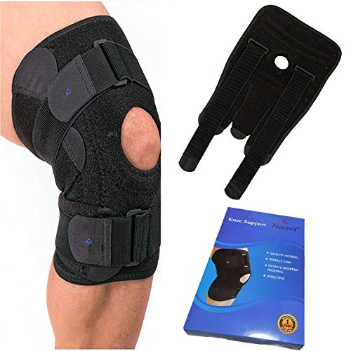 Noova Knee Caps For Women & Men - Neoprene Knee Support for Knee Pain Relief, Adjustable Knee Brace for Gym, Running, Sports, Knee Wraps for Daily Use - Free Size- 1 Piece (Black) (B00QQFYRD4) Amazon Price History, Amazon Price Tracker